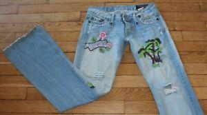 P&Y Denim Jeans pour Femme W 28 - L 32 Taille Fr 38 ALEX PALMIER  (Réf #S238)