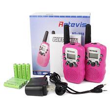 2xPink Retevis Rt-388 Anti-Throwing Uhf 0.5W 22Ch Walkie-Talkie Flashlight Us