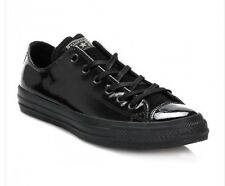 Converse Women Size 6 Chuck Taylor All Star Black Patent Leather Low Top Sneaker