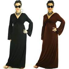 Solid maxi dresses for women