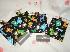 HANDMADE FABRIC DOG POO POOP BAG HOLDER DISPENSER DOG CHARACTER FABRIC