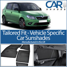 Skoda Fabia 5dr 07-14 UV CAR SHADES WINDOW SUN BLINDS PRIVACY GLASS TINT BLACK