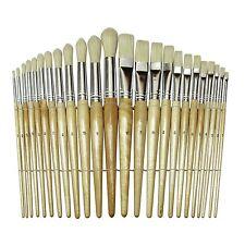 Paint Brush Set Acrylic Watercolor Oil Artist 24 Pcs Lot Painting Brushes Paint