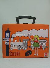 Tutti (Todd) carry case German version with train from 1974 by Mattel