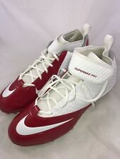 New Mens Nike Lunar Superbad Pro TD Football Cleats 15 White Red 511334-161