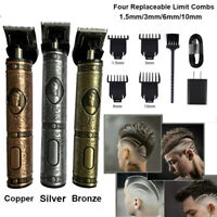 Portable Electric Pro T-outliner Cordless Trimmer Wireless Hair Clipper Set USB