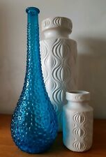 Large Vintage Italian Genie Bottle Blue Bubble Effect