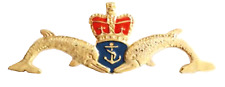 Royal Navy RN Submarine Service Cut-out Dolphins Large Pin Badge - Mod Approved