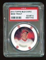 2014 Topps MLB Chipz Mike Trout PSA 6 Oddball Poker Chip GOAT