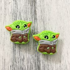 2pc Cute baby little Yoda Shoe Charm For Clog Shoes