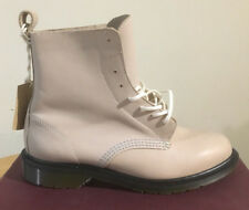 DR. MARTENS ARIAUNA LIGHT GREY TEMPERLEY  LEATHER  BOOTS SIZE UK 4