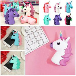 Portable Unicorn Cartoon Emoji Phone Charger PowerBank External Battery 2000mAh