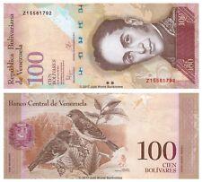 Venezuela 100 Bolivares 2015 Replacement P-93i Banknotes UNC
