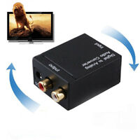 Digital to Analog Audio Converter Amplifier Decoder Optical Fiber Coaxial&l