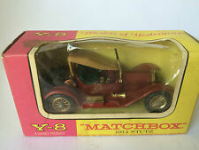 1914 STUTZ ORIGINAL VINTAGE OLD MATCHBOX MODELS OF YESTERYEAR TOY CAR & BOX XX