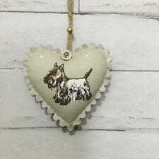 Scottish Terrier Handmade Fabric Hanging Door Heart Shabby Chic Decoration Gift