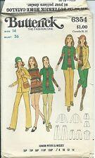 B 6354 sewing pattern 70's TOP SHIRT PANTS fun KNICKERS SHORTS sew size 14 UNCUT