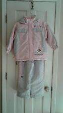 2 PIECE HELLO KITTY PINK &GRAY SNOW SUIT FROM JAPAN