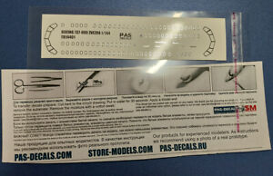 1/144 PAS-DECALS ZVEZDA Decal -Silver edging of the  glazing  Boeing 737-800