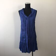 Friends of Couture Blue Shift Sleeveless Dress Size 8