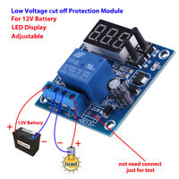 12V Battery Low Voltage LED Undervoltage Anti-Over Discharge Protection Board