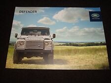 LAND ROVER DEFENDER 90, 110, 130 UK SALES BROCHURE 2014 Pub. No. LRML4657/14 NEW