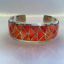 Spiny Oyster ZUNI Bracelet Sterling Silver, Orlinda Natewa