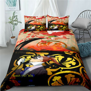 Anime Naruto Queen/Single/Double/King Size Bed Quilt Doona Duvet Cover Set Linen