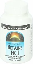 Betaine HCL, Source Naturals, 90 tablet 1 pack