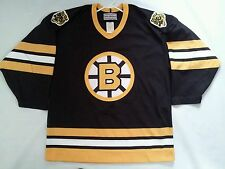 VINTAGE MADE IN CANADA 90'sCCM BOSTON BRUINS AUTHENTIC  HOCKEY JERSEY IN SIZE 44
