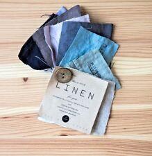 SWATCHES of Len.Ok linen bedding fabrics FREE SHIPPING