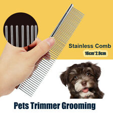 2in1 Stainless Steel Comb Hair Brush Shedding Flea For Dog Pets Trimmer Grooming