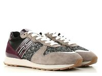 Hogan R261 women's sneakers shoes in multicolor suede leather Size US 7 - IT 37