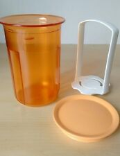Tupperware Acrylic Small Round Pick-A-Deli 2 cups Orange New