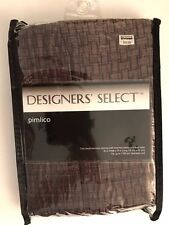 Designers' Select Pimlico Inverted Pleat/Back Tab Window Valance in Chocolate