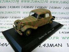 TRA18C voiture 1/43 atlas traction NOREV :  traction 11 BL militaire 1940