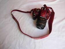 Nikon D D3200 24.2MP Fotocamera Reflex Digitale-Rosso (kit con AF-S DX VR lente 18-55mm)