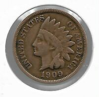 USA Rare Very Old Antique 1909 US Indian Head Penny Cent Collection Coin Lot i46