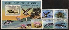 Turks & Caicos 380-5 MNH Birds, Ospreys, Turtle, Shell, Dolphin. Whale