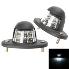 LED Truck Car License Plate Lights Auto Door Lights 2 Pieces 12V Universal White