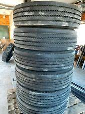 set of 6 used 255/70R22.5 Yokohama, Michelin, Goodyear tires