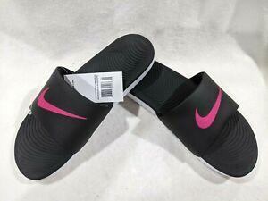 Nike Women's Kawa Black/Pink Slide Sandals - Size 10/11 NWB (834588-060)