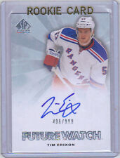 11-12 SP Authentic Tim Erixon Auto Rookie RC #264 Future Watch Mint /999
