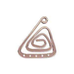 Rose Gold Swirl Triangle Earring Findings 1 inch Chandelier Pendants Jewelry 10
