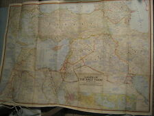 VINTAGE LANDS OF THE BIBLE TODAY MAP + HISTORICAL NOTES National Geographic 1956