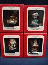 Set Lot 4 Vintage 1996 Christmas Ornaments NIB Xmas Squirrel Mouse Santa Bear