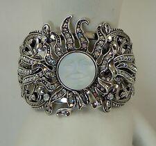 Kirks Folly Sundancer Seaview Moon Cuff Bracelet - silver finish