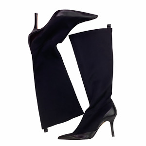 Charles by Charles David Point Toe Stiletto Knee High Stretch Scuba Boots 10