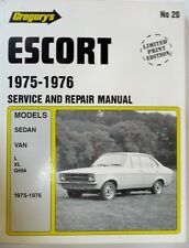 ESCORT WORKSHOP MANUAL LIMITED PRINT ED, 1975/1976  GREGORY'S PUBLICATIONS NO20