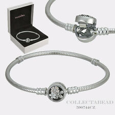 "Authentic Pandora Silver Enamel Poetic Blooms 7.9"" Bracelet w/ BOX 590744CZ-20"